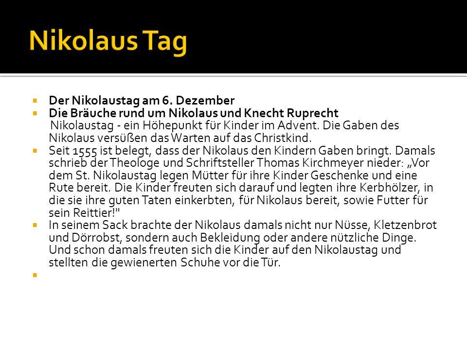 Nikolaus Tag Der Nikolaustag am 6. Dezember