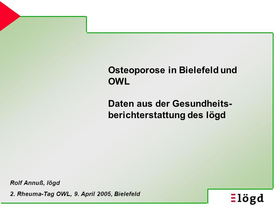 Osteoporose in Bielefeld und OWL