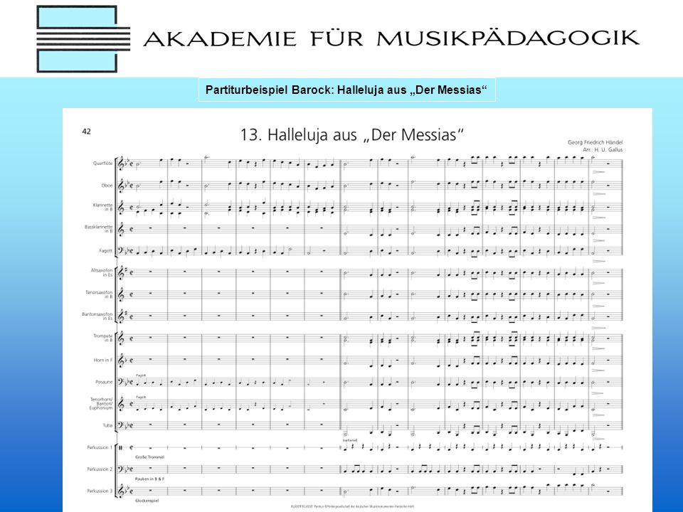 """Partiturbeispiel Barock: Halleluja aus """"Der Messias"""