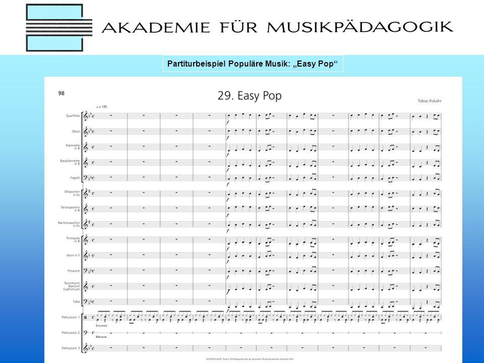 """Partiturbeispiel Populäre Musik: """"Easy Pop"""