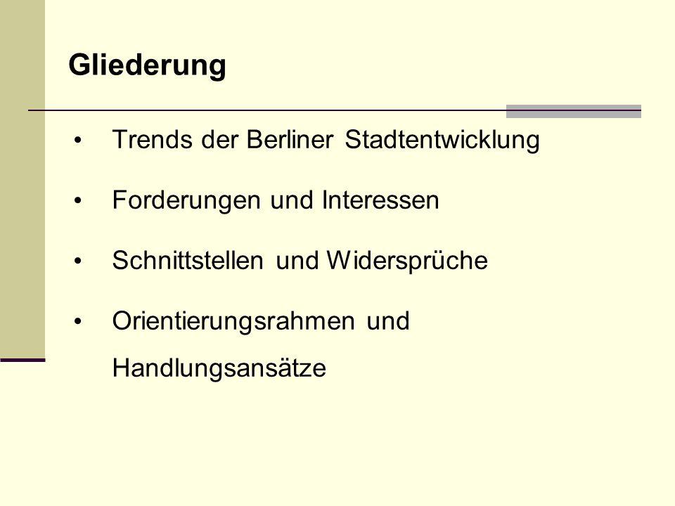 Gliederung Trends der Berliner Stadtentwicklung