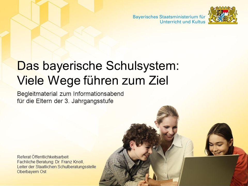Das bayerische Schulsystem: Viele Wege führen zum Ziel