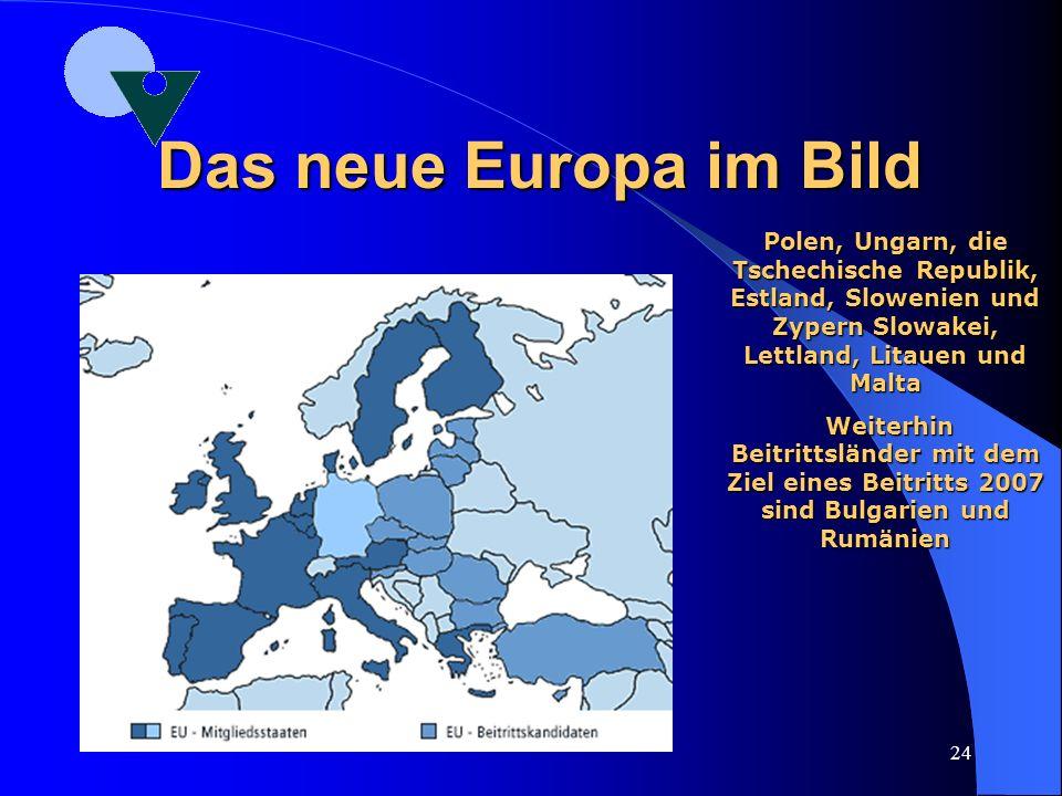 Das neue Europa im Bild Polen, Ungarn, die Tschechische Republik, Estland, Slowenien und Zypern Slowakei, Lettland, Litauen und Malta.