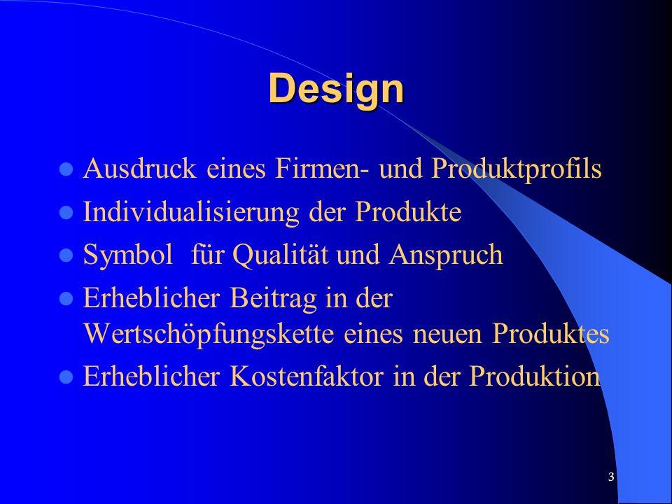Design Ausdruck eines Firmen- und Produktprofils