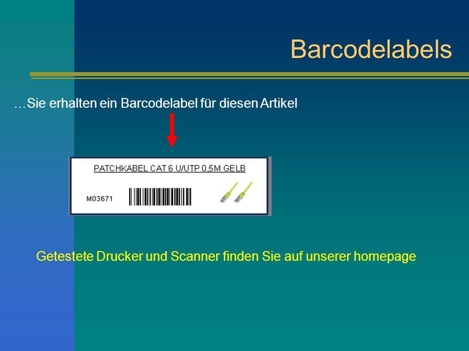 Barcodelabels …Sie erhalten ein Barcodelabel für diesen Artikel