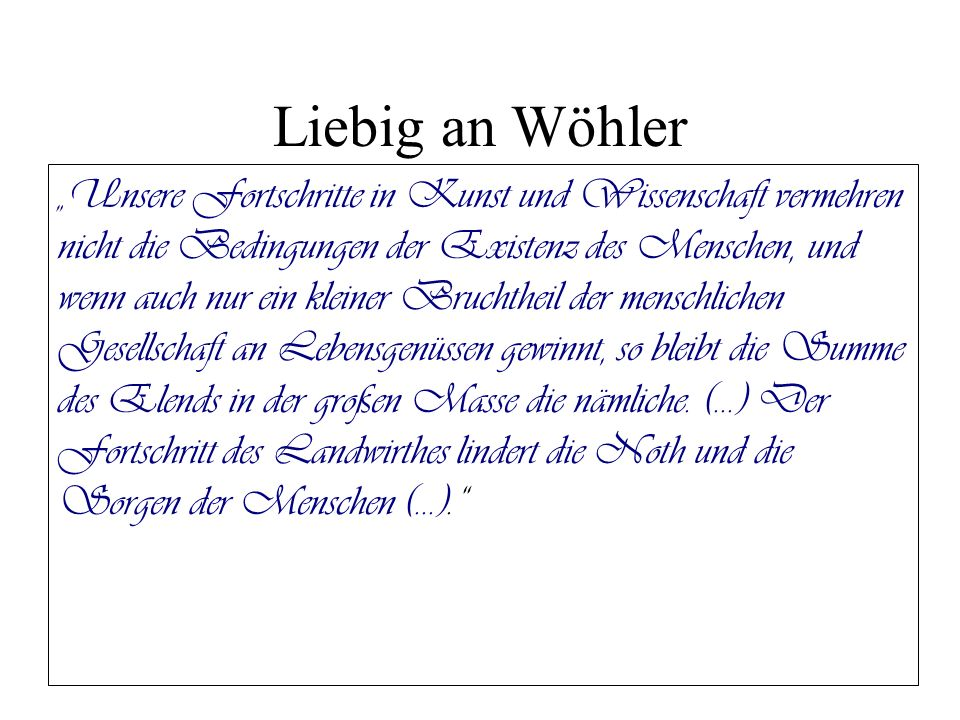 Liebig an Wöhler