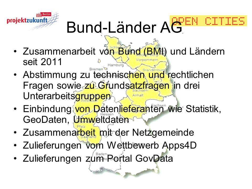 Bund-Länder AG Zusammenarbeit von Bund (BMI) und Ländern seit 2011
