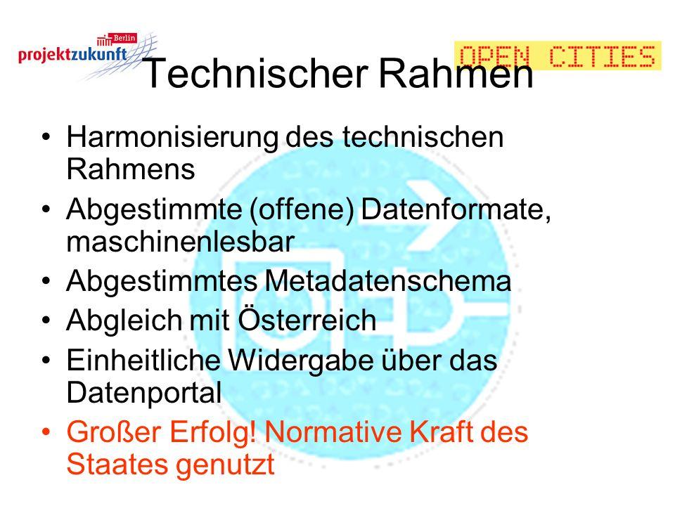 Technischer Rahmen Harmonisierung des technischen Rahmens