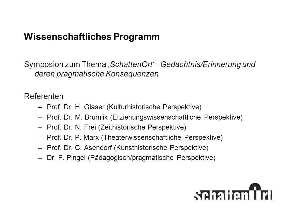 Wissenschaftliches Programm
