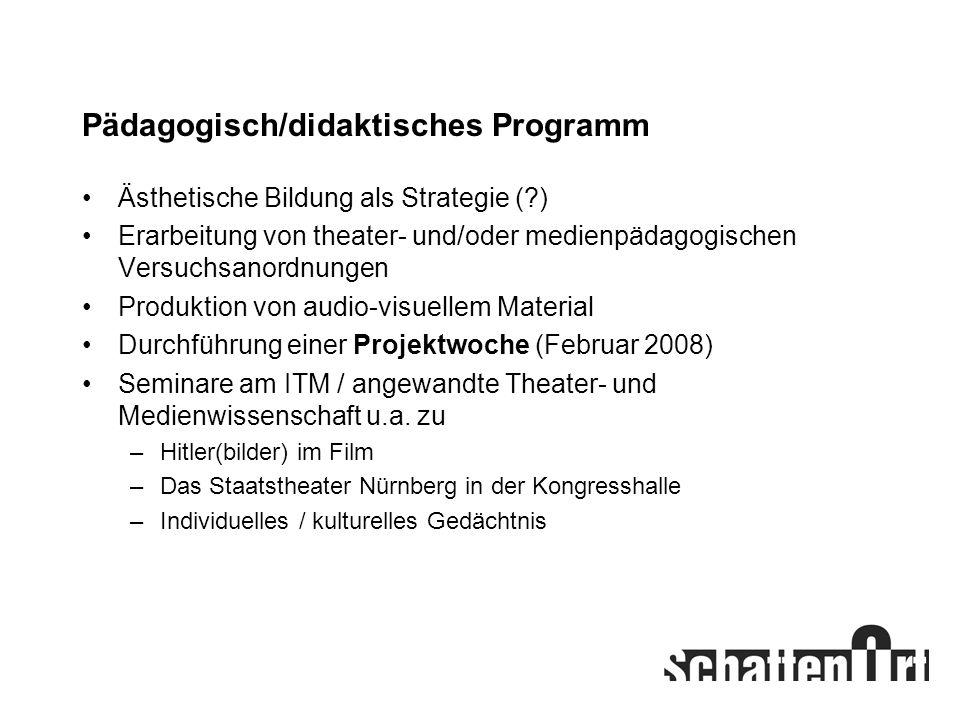 Pädagogisch/didaktisches Programm