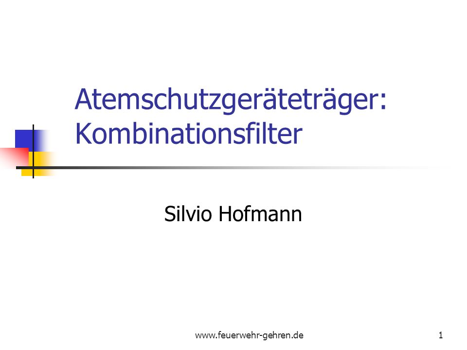 Atemschutzgeräteträger: Kombinationsfilter