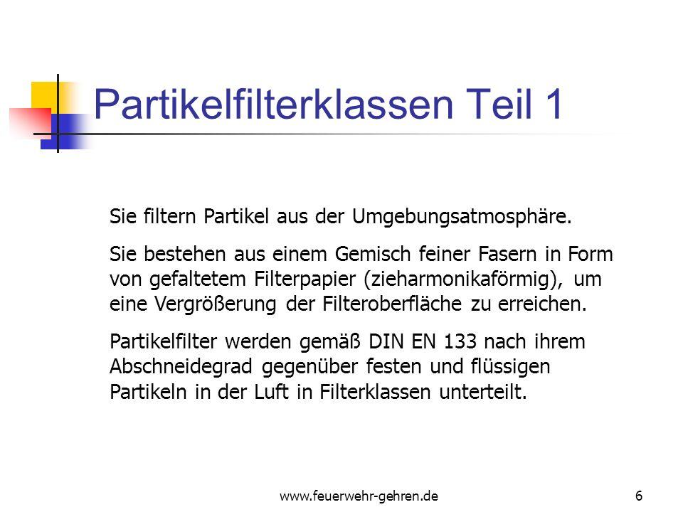 Partikelfilterklassen Teil 1