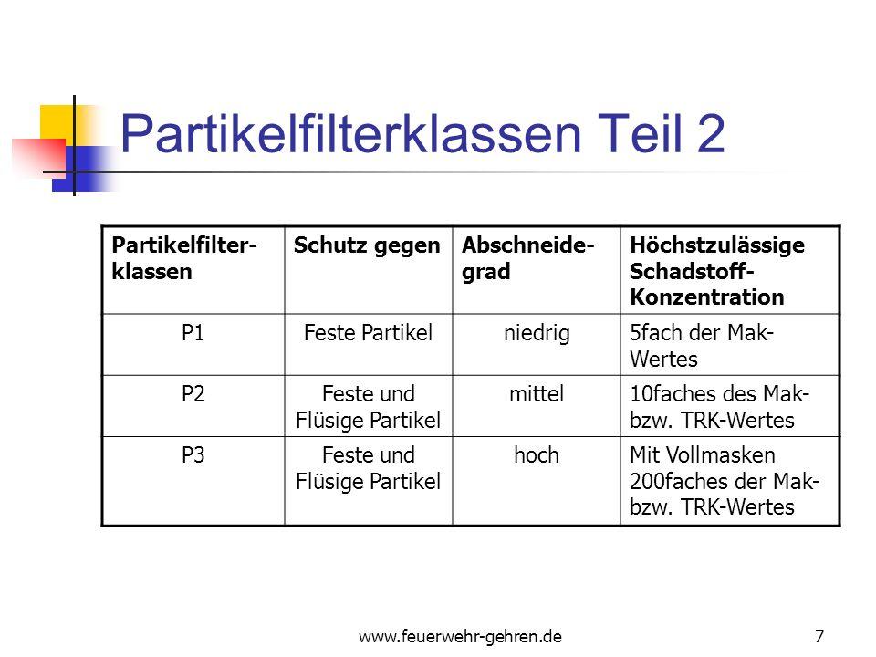 Partikelfilterklassen Teil 2