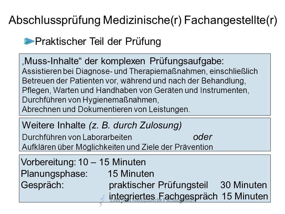 Abschlussprüfung Medizinische(r) Fachangestellte(r)