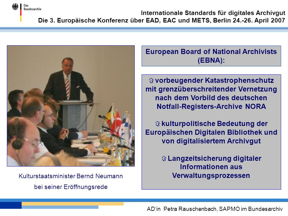 European Board of National Archivists (EBNA):