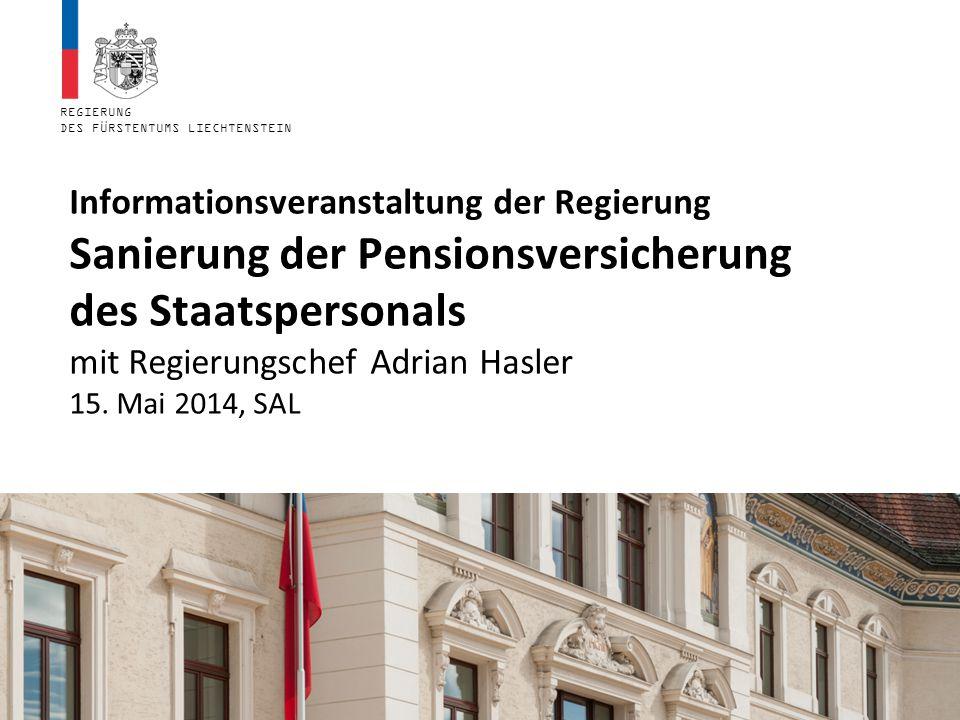 Informationsveranstaltung der Regierung Sanierung der Pensionsversicherung des Staatspersonals mit Regierungschef Adrian Hasler 15.