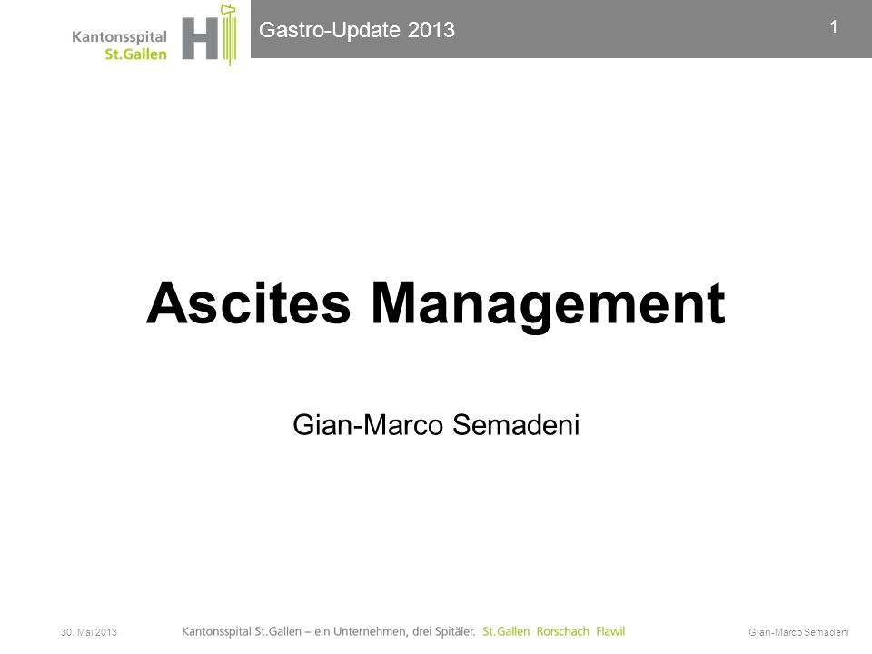 Ascites Management Gian-Marco Semadeni