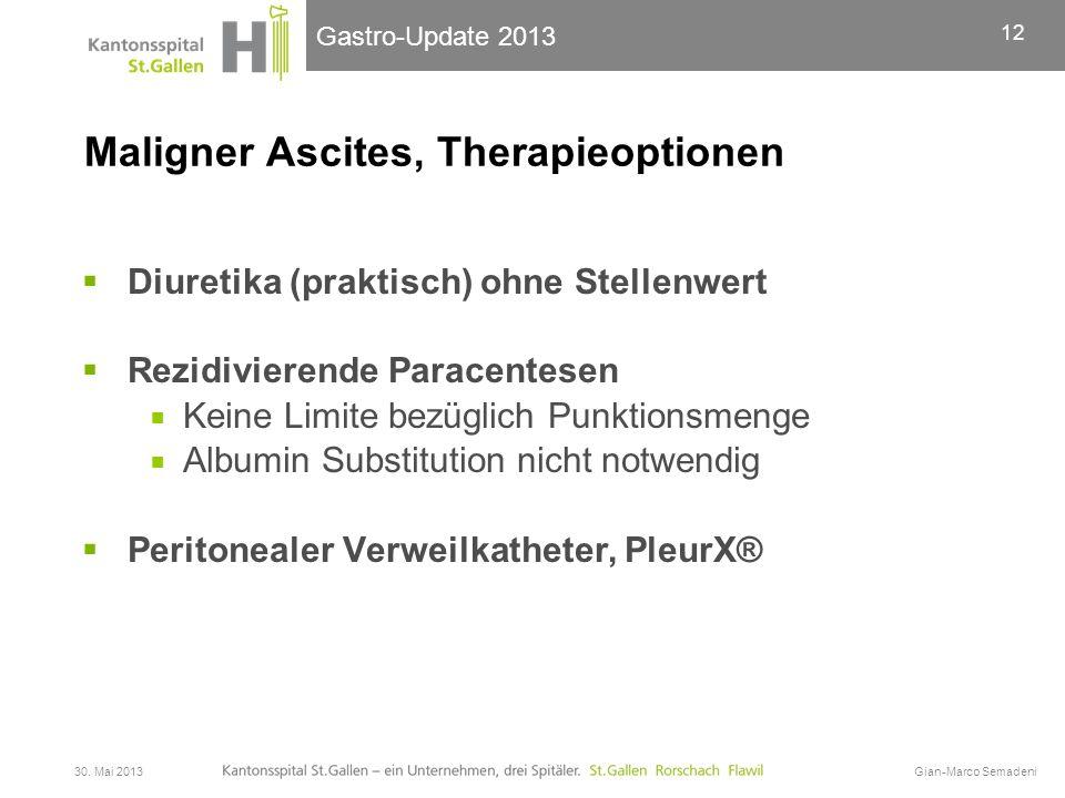 Maligner Ascites, Therapieoptionen