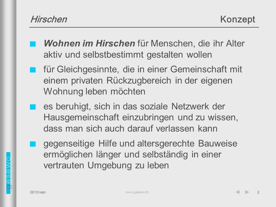 Hirschen Konzept Wohnen im Hirschen für Menschen, die ihr Alter aktiv und selbstbestimmt gestalten wollen.