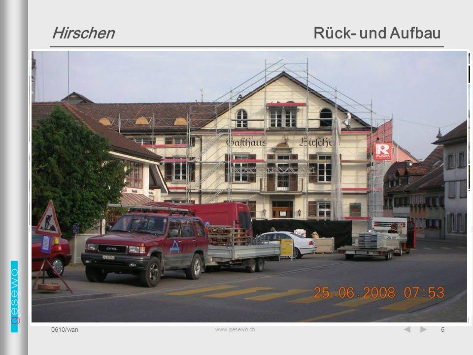 Hirschen Rück- und Aufbau