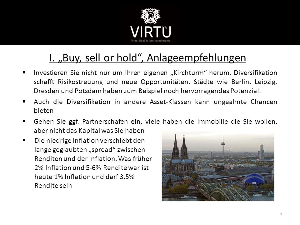 "I. ""Buy, sell or hold , Anlageempfehlungen"
