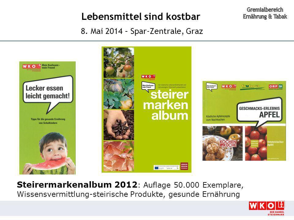 Steirermarkenalbum 2012: Auflage 50.000 Exemplare,