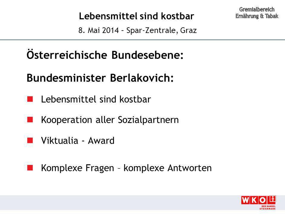 Österreichische Bundesebene: Bundesminister Berlakovich:
