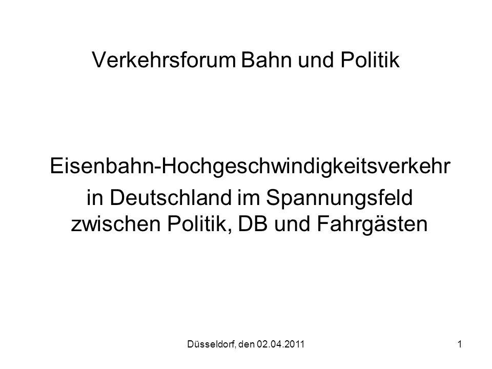 Verkehrsforum Bahn und Politik