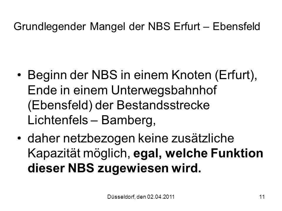 Grundlegender Mangel der NBS Erfurt – Ebensfeld