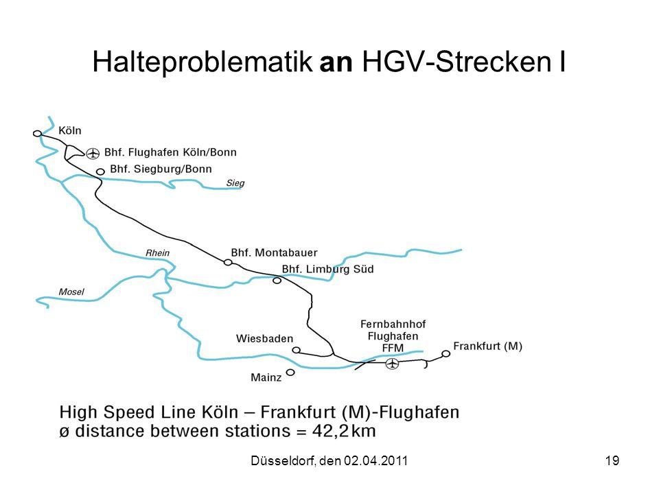 Halteproblematik an HGV-Strecken I