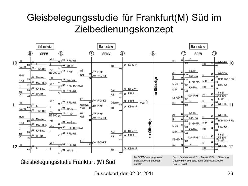 Gleisbelegungsstudie für Frankfurt(M) Süd im Zielbedienungskonzept
