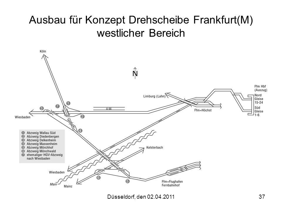 Ausbau für Konzept Drehscheibe Frankfurt(M) westlicher Bereich