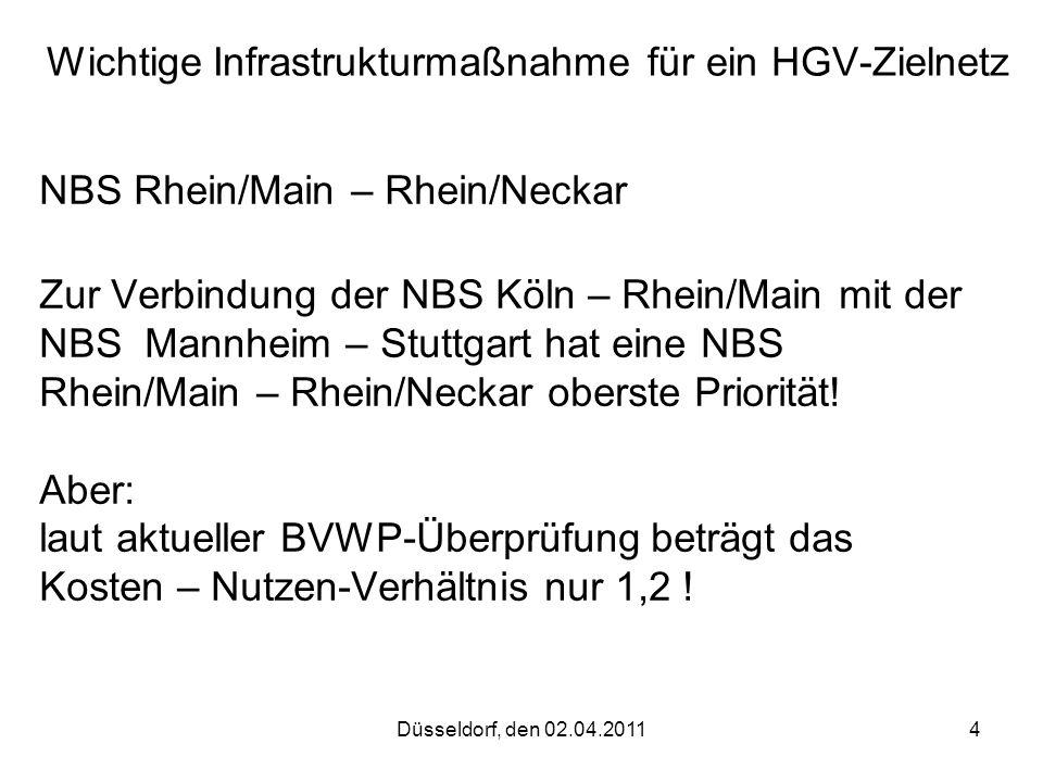 Wichtige Infrastrukturmaßnahme für ein HGV-Zielnetz