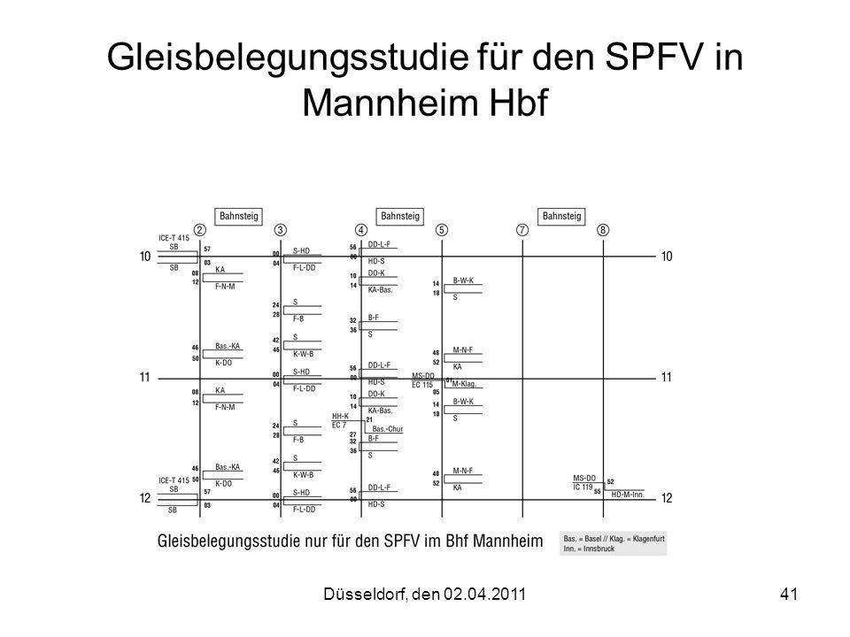 Gleisbelegungsstudie für den SPFV in Mannheim Hbf