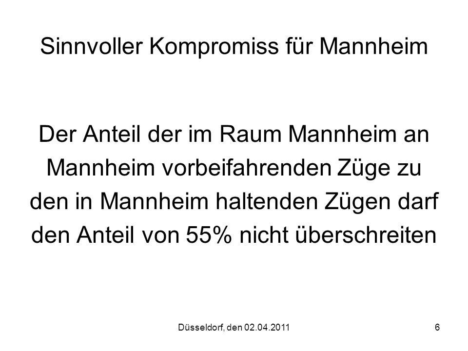 Sinnvoller Kompromiss für Mannheim