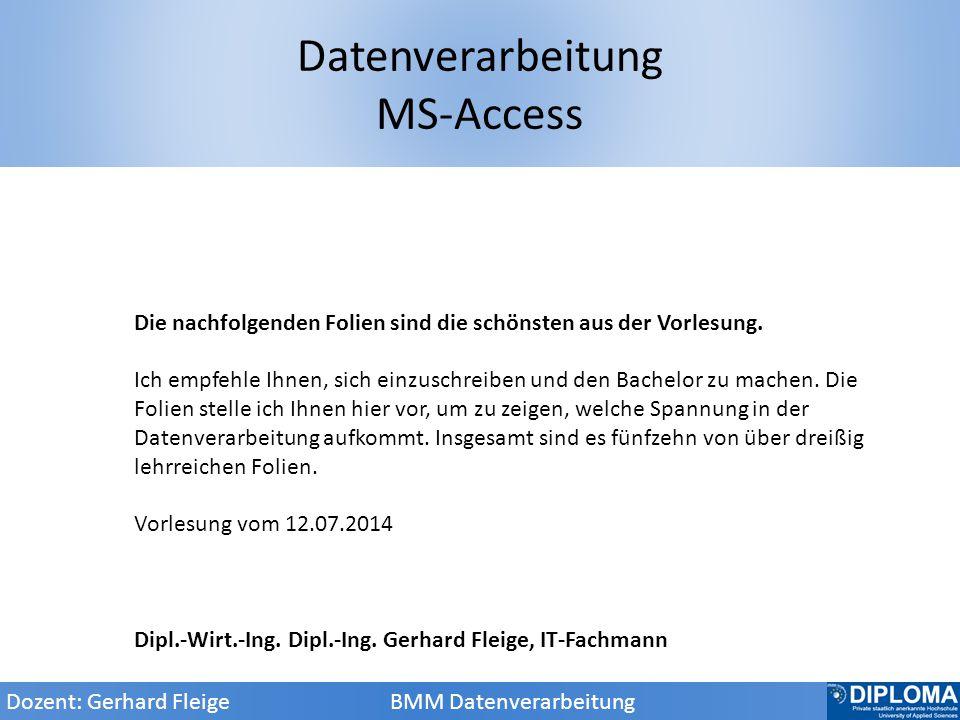 Datenverarbeitung MS-Access