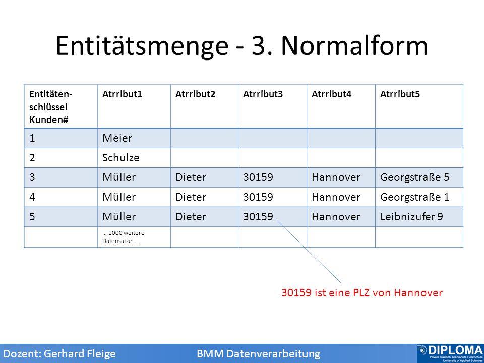 Entitätsmenge - 3. Normalform