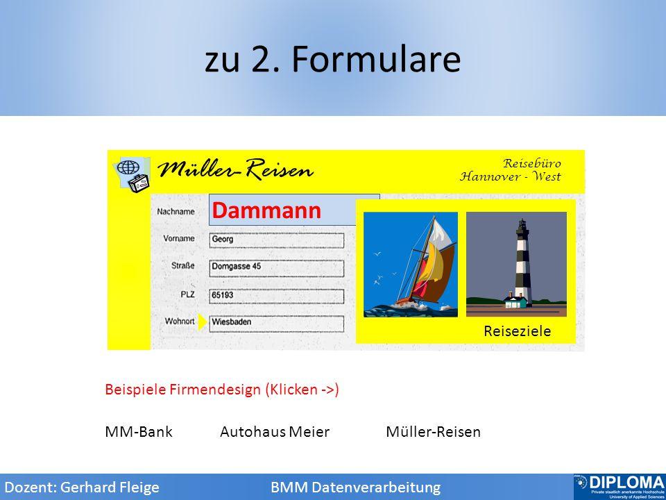 zu 2. Formulare AM Autohaus Meier Müller-Reisen Dammann