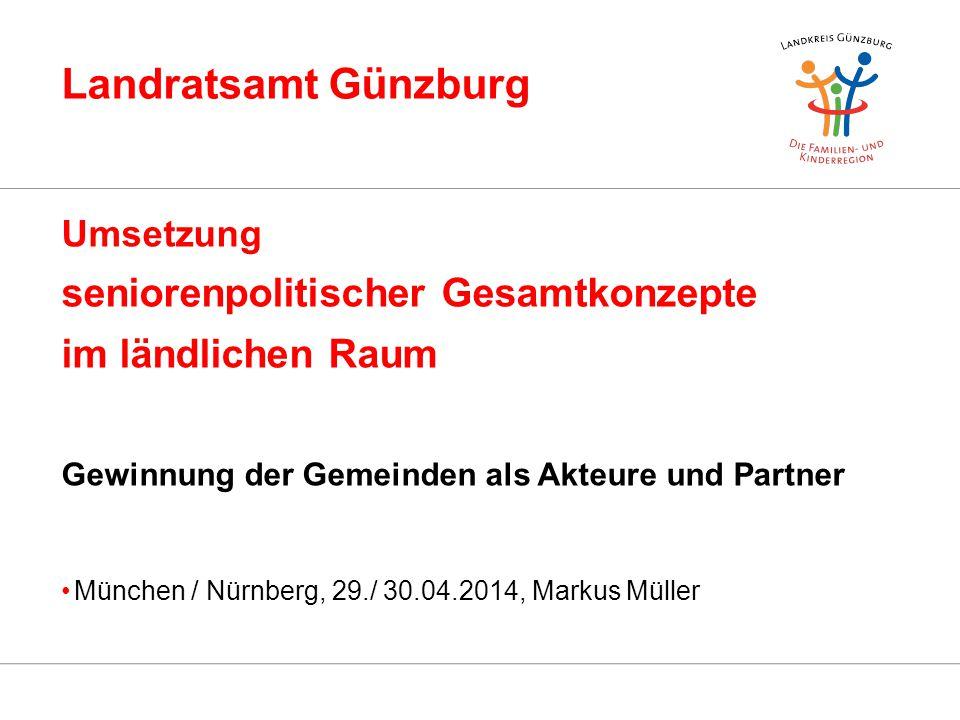 Landratsamt Günzburg seniorenpolitischer Gesamtkonzepte