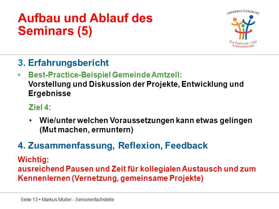 Aufbau und Ablauf des Seminars (5)