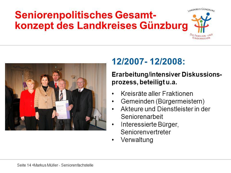Seniorenpolitisches Gesamt- konzept des Landkreises Günzburg
