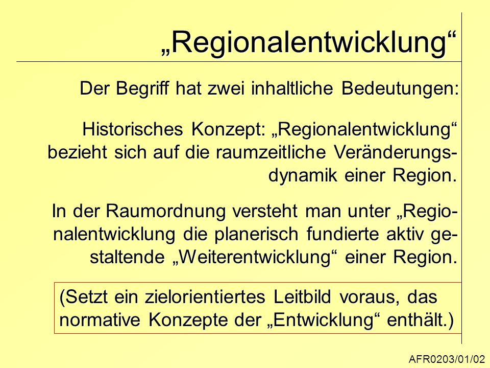 """""""Regionalentwicklung"""