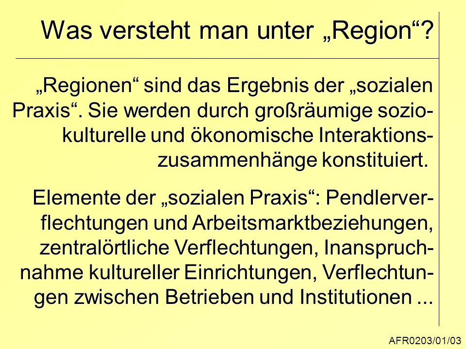 """Was versteht man unter """"Region"""