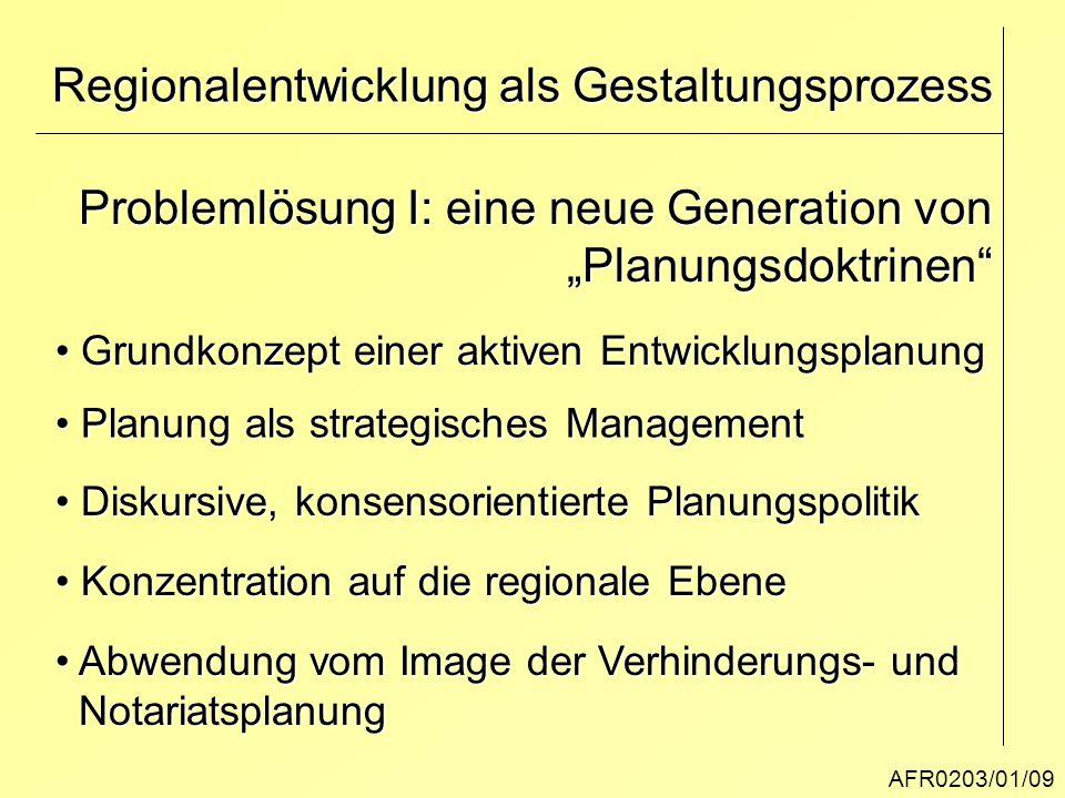 Regionalentwicklung als Gestaltungsprozess