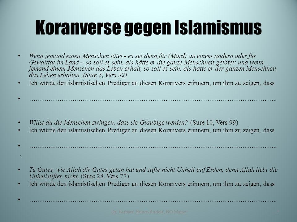 Koranverse gegen Islamismus