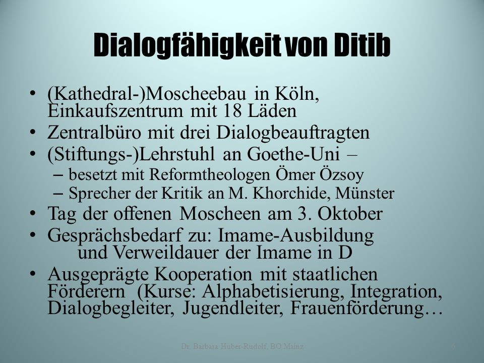 Dialogfähigkeit von Ditib