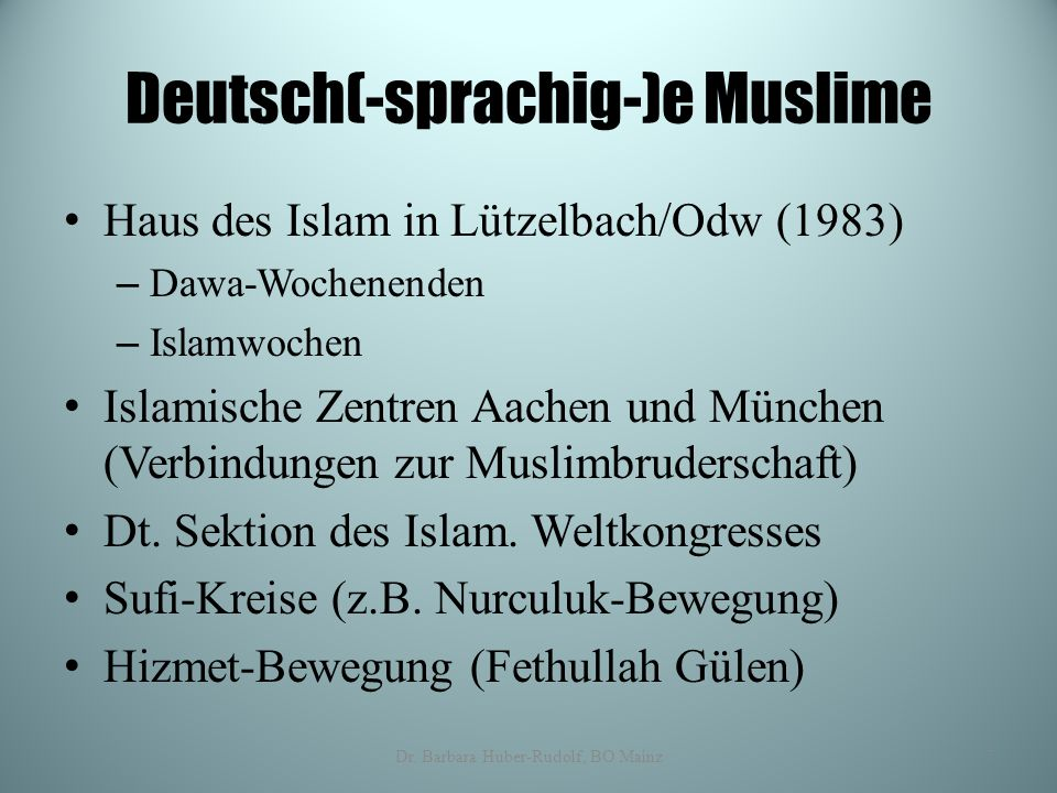 Deutsch(-sprachig-)e Muslime