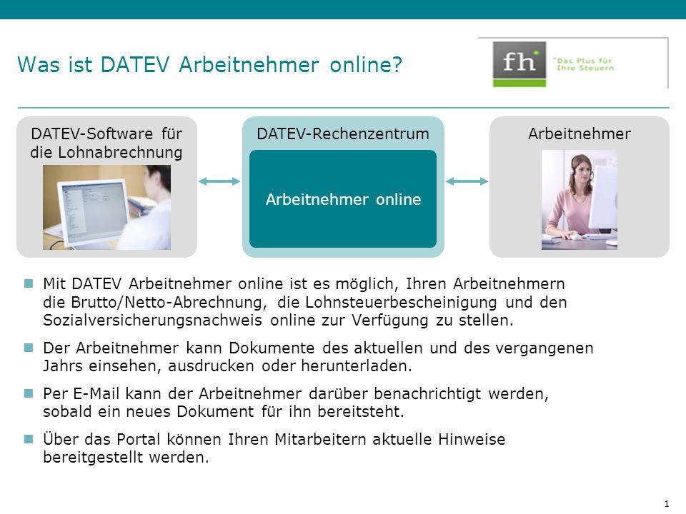 Was ist DATEV Arbeitnehmer online