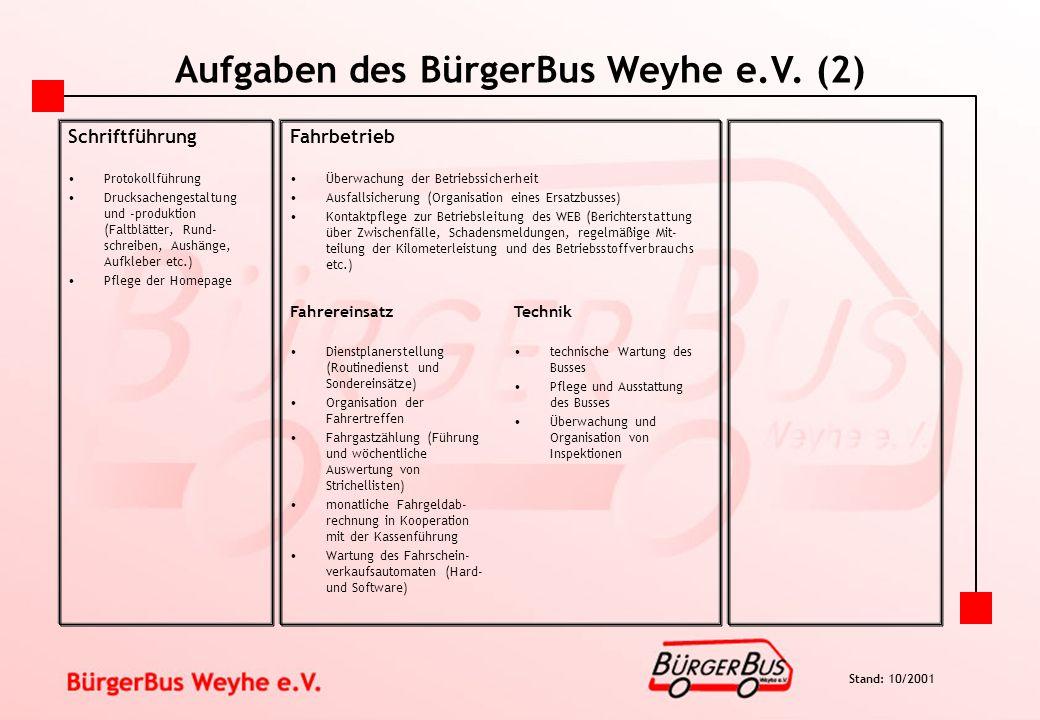 Aufgaben des BürgerBus Weyhe e.V. (2)