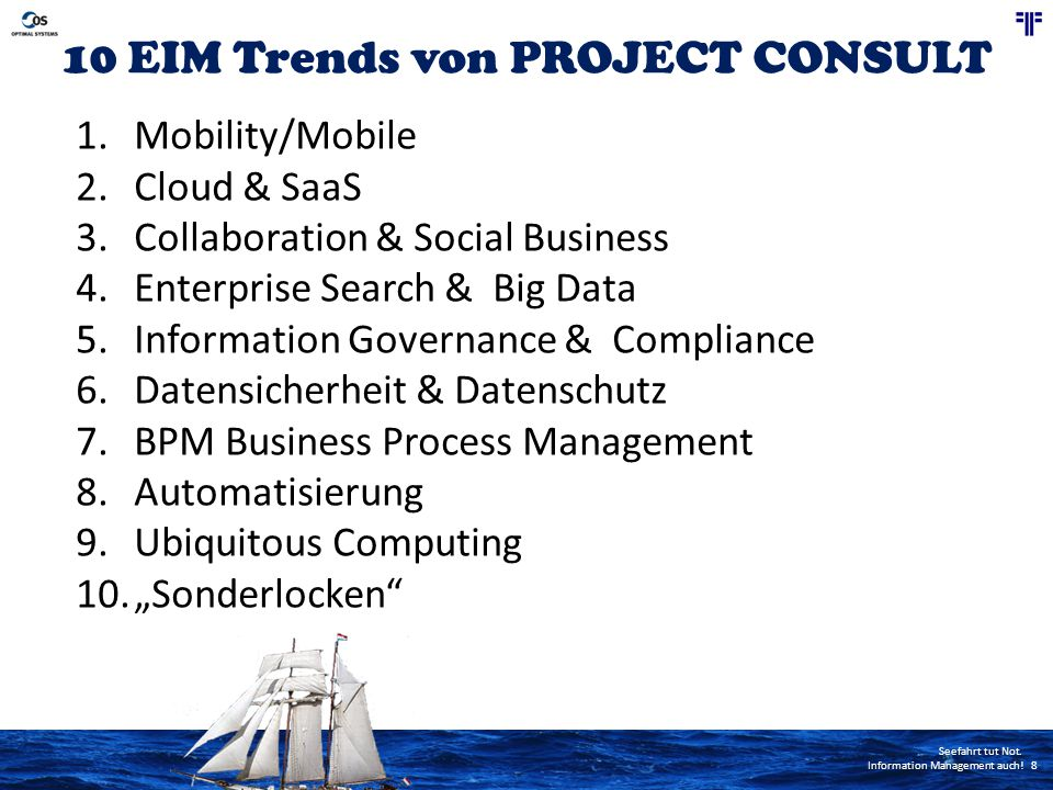 10 EIM Trends von PROJECT CONSULT